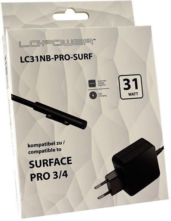 Адаптер LC-Power Surface Pro, 31 Вт, 100 - 240 В