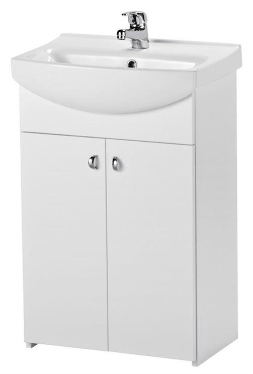 Vonios baldų komplektas su praustuvu ir maišytuvu Cersanit, baltas