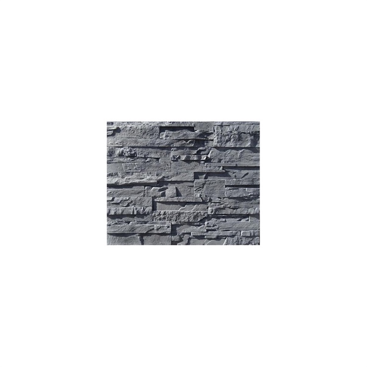 Декоративный камень Stone Master Odessa Nero 5905674243164, 180 мм x 90 мм x 20 мм, 20 шт.