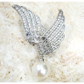 Vincento Brooch With Zirconium Crystal CD-1029