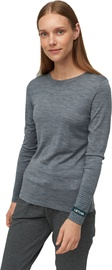 Audimas Fine Merino Wool Long Sleeve Top Mid Grey S