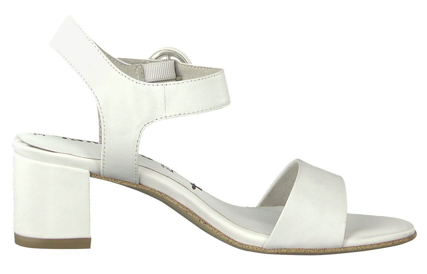 Tamaris Scola Healed Sandal 1 1 28342 22 White Leather 37