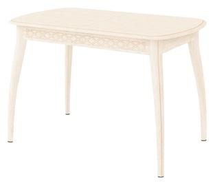 Pusdienu galds DaVita Orfej 35.10 Cream, 2000x750x770 mm