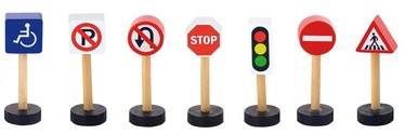 Viga Train Set Accessory Traffic Signs 50817