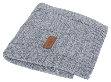 Ceba Baby Jersey Knitted Blanket 90x90cm Check Grey