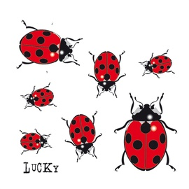 SN Car Stickers Ladybugs 1/02225 7pcs
