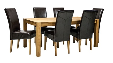 Home4you Chicago Dining Set Dark Brown/Oak