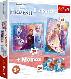 Dėlionė Trefl Memo & Puzzles Disney Frozen II 90814, 30/48 dalių