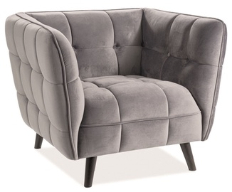 Signal Meble Castello Velvet 1 Armachair Gray