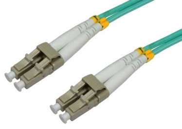 Intellinet LC-LC Fiber Optic Patch Cable OM-3 Green 5m