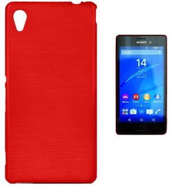 Forcell Jelly Brush Back Case For Sony Xperia M4 Aqua Red