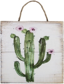 Home4you Wooden Printed Picture Country 15x15cm Cactus 2 83774