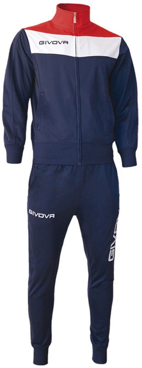 Givova Campo Tracksuit Blue/Red 2XS