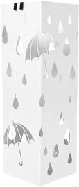 Lietussargu statīvs Songmics Rain, balta, 155x155x490 mm