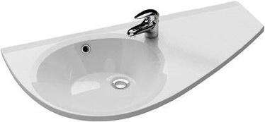 Ravak Avocado Sink Left 850x450mm White