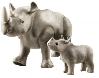 Фигурка-игрушка Playmobil Rhino With Baby 70357