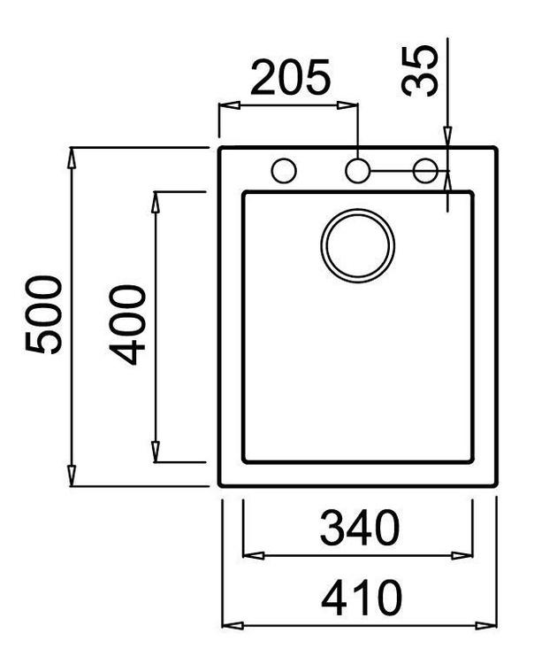 Раковина Teka Forsquare 34.40 TG White, 340 мм x 500 мм x 200 мм