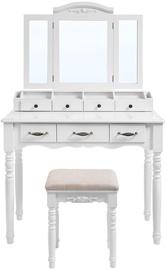 Songmics Vanity Table White 90x40x148cm