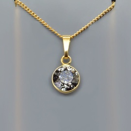 Diamond Sky Pendant Classic Black Patina With Swarovski Crystals