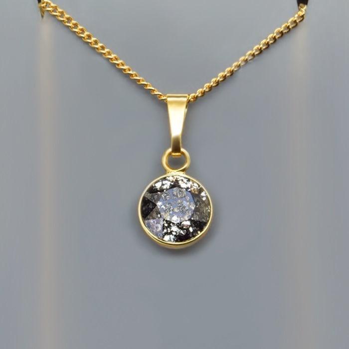 Diamond Sky Pendant Classic Black Patina With Swarovski Crystals