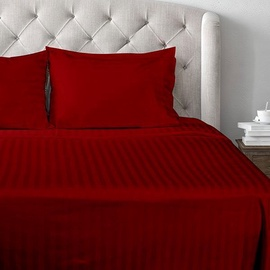 Gultas veļas komplekts Domoletti T2, sarkana/ķiršu, 140x200/70x50 cm