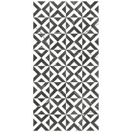 Keraminės dekoruotos plytelės ATLAS WHITE MOTIF, 25X50 cm