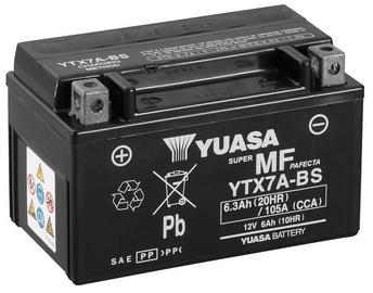 Аккумулятор Yuasa YTX7A-BS, 12 В, 6 Ач, 105 а