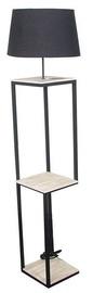 Verners Rasa Floor Lamp 60W E27 Black/Wood