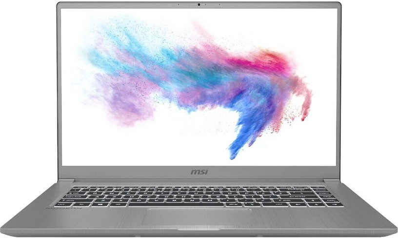 "Nešiojamas kompiuteris MSI Modern 15 Urban Silver 15 Urban Silver A10M-497PL PL Intel® Core™ i7, 8GB/512GB, 15.6"""