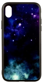 TakeMe Glass Glossy Back Case For Samsung Galaxy S8 Blue Galaxy
