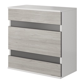 Idzczak Meble Helios 46 4S Chest Of Drawers White/Grey