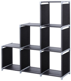 Songmics Storage Shelves Black/Grey 106x110cm