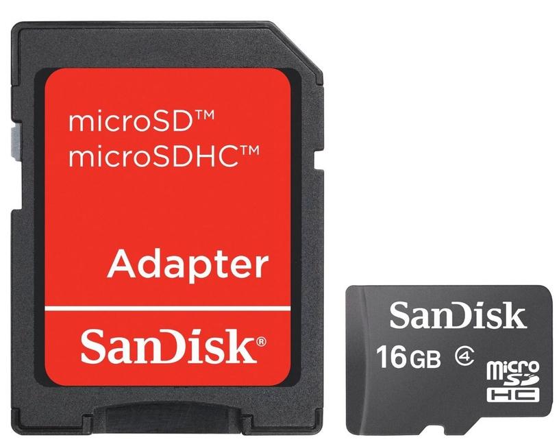 SanDisk 16GB Micro SDHC Class 4 + Adapter