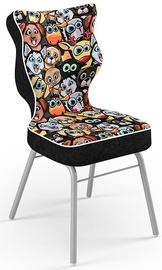 Детский стул Entelo Solo Size 3 ST28, черный/многоцветный, 310 мм x 695 мм