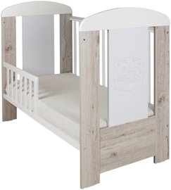 Drewex Cortona Bear Premium Bed With Drop Side White