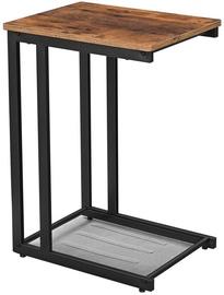 Kavos staliukas Songmics Mesh Shelf, rudas/juodas, 480x350x650 mm