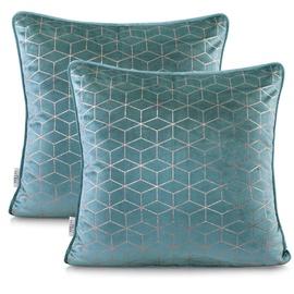 Наволочка AmeliaHome Nancy Pillowcase 45x45 Light Blue 2pcs