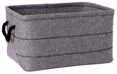 Home4you Max Felt-1 Basket 44x32xH24cm Light Gray