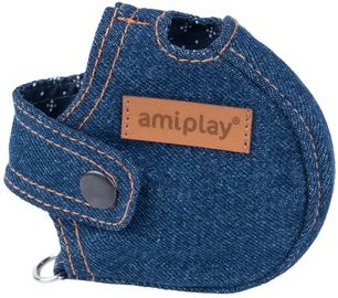 Amiplay Denim Infini Retractable Leash Cover Navy Blue L