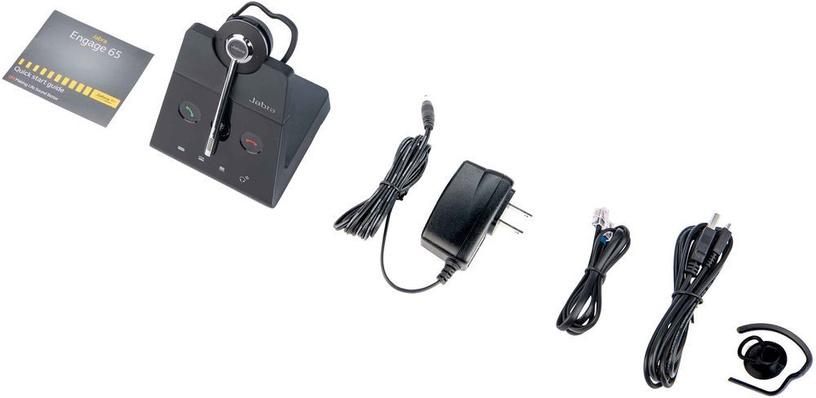 Ausinės Jabra Engage 65 Convertible Black, belaidės