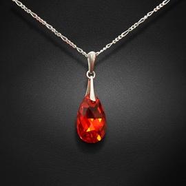 Diamond Sky Pendant Baroque Light Siam AB With Crystals From Swarovski