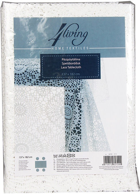 4Living Tablecloth 137x182cm White