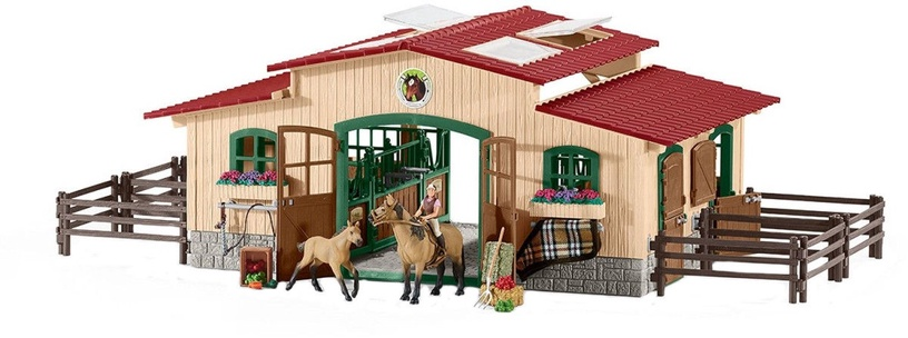 Schleich Stable With Horses And Accessories 42195