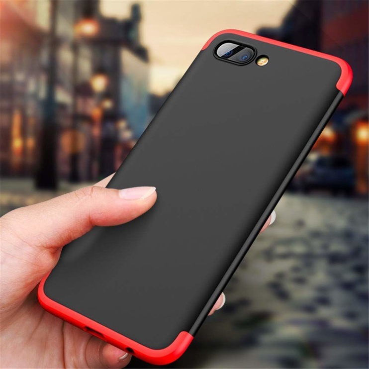 Hurtel 360 Protection Full Body Cover For Huawei Honor 10 Black/Red