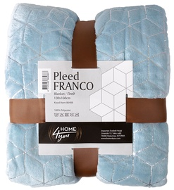 Home4you Franco Blanket 130x160cm Blue/Silver