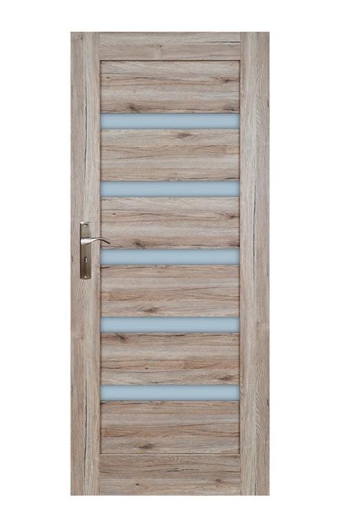 Полотно межкомнатной двери Everhouse Door Leaf Sanremo 5/5 84.4x203.5cm Oak Left