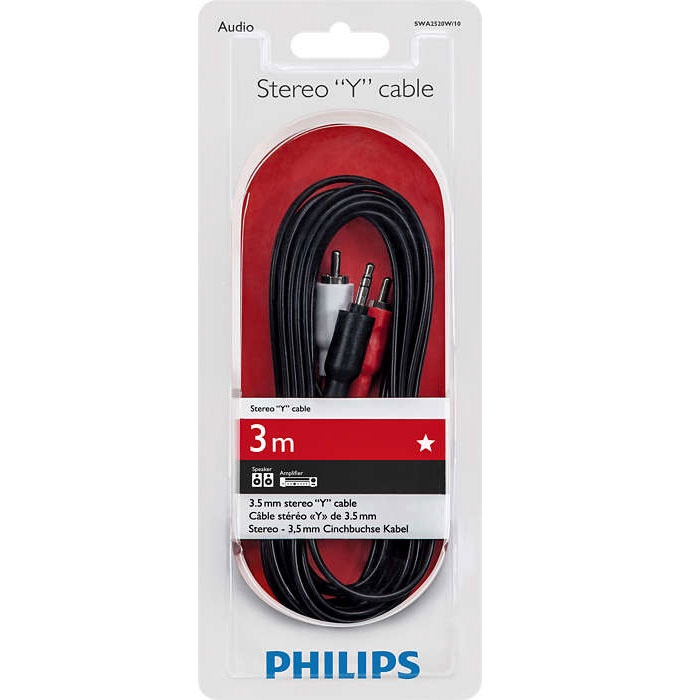 Kaabel 3.5/2 rca 3m Philips SWA2520W/10