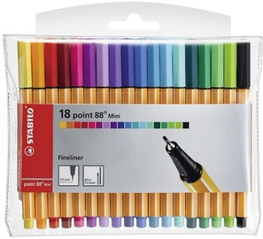 Ручка Stabilo Point 88 Mini, многоцветный, 18 шт.