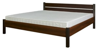 Bodzio BS47 Bed w/ Mattress 180x200cm Walnut