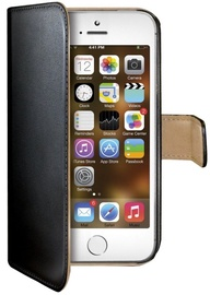 Celly Wallet Case for iPhone 5/5S Black